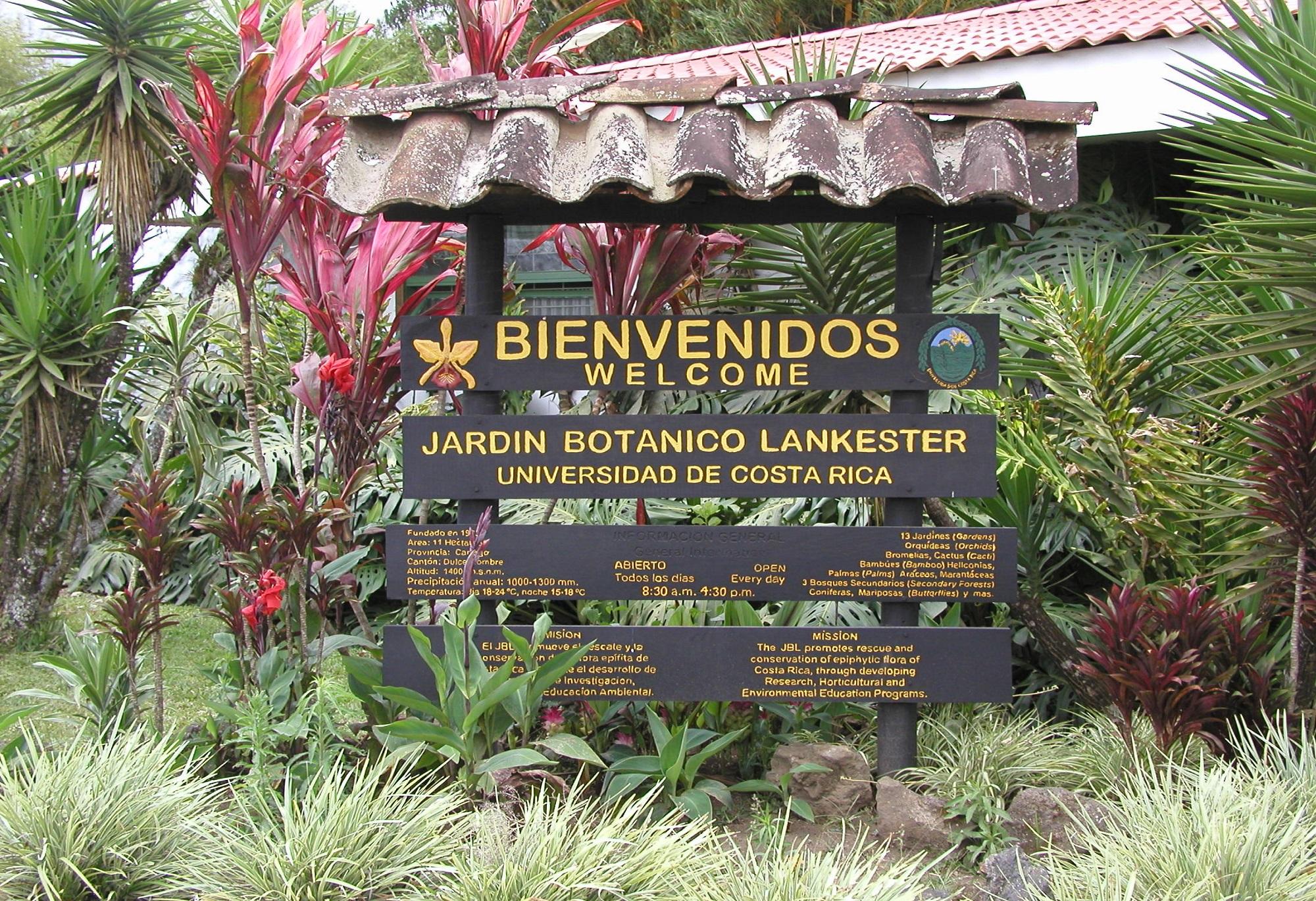Cartago S Gorgeous Lankester Botanical Gardens
