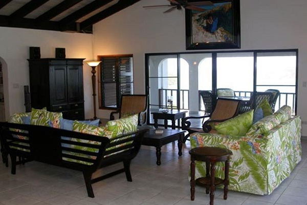 Living Room at Villa Gorda
