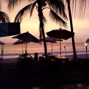 Flamingo beach, sunset